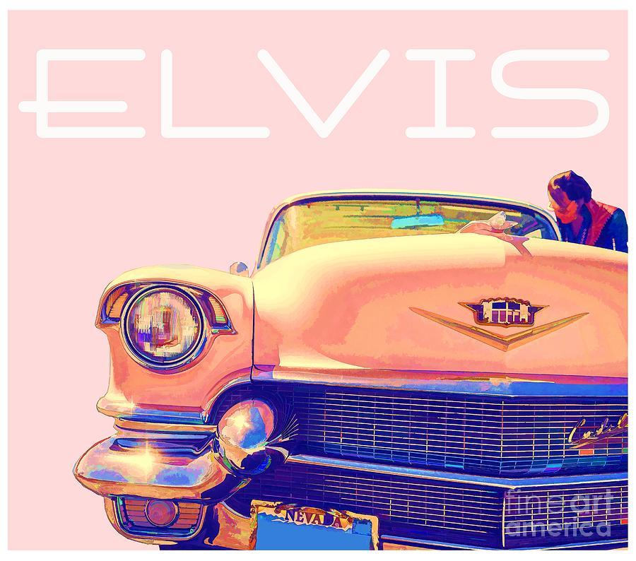 Elvis Photograph - Elvis Presley Pink Cadillac by Edward Fielding