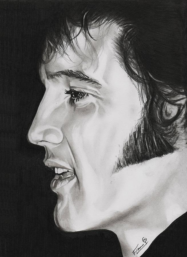 the king drawing elvis presley the king by fred larucci