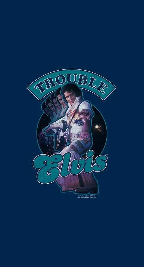 Elvis Digital Art - Elvis - Total Trouble by Brand A