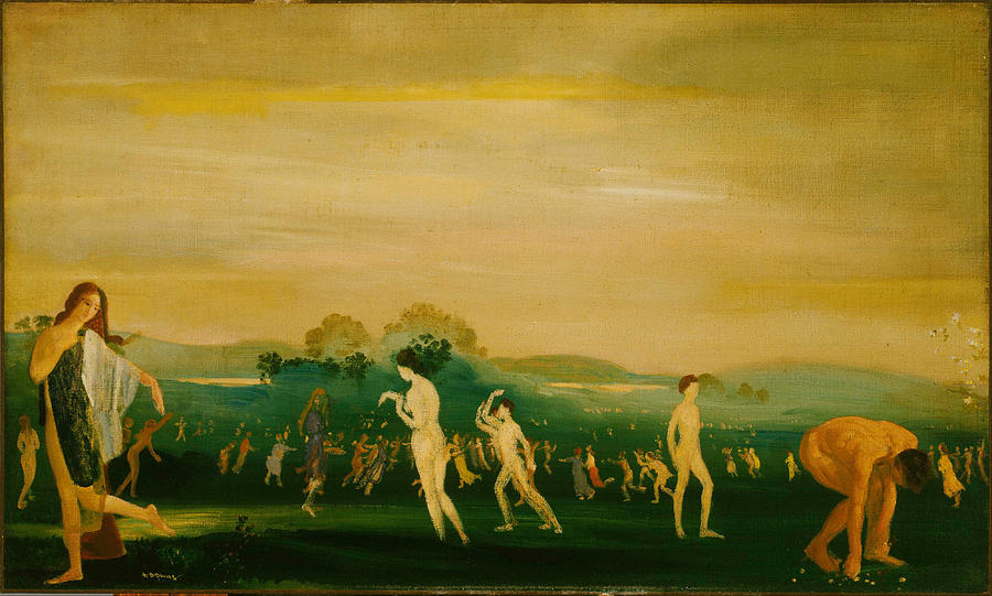 Arthur Bowen Davies Painting - Elysian Fields by Arthur Bowen Davies