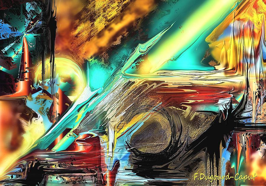 Abstract Digital Art - Emanation by Francoise Dugourd-Caput