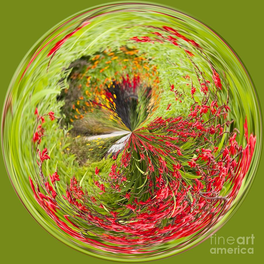 Anne Gilbert Photograph - Emberglow Orb by Anne Gilbert