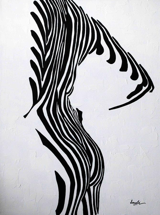 Black And White Painting - Embrace It  by Sonali Kukreja