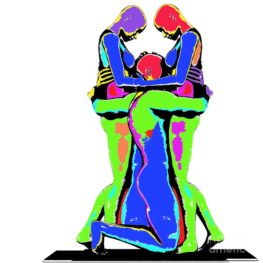Threesome Photograph Photograph - Embrace Of Love by Jo Collins