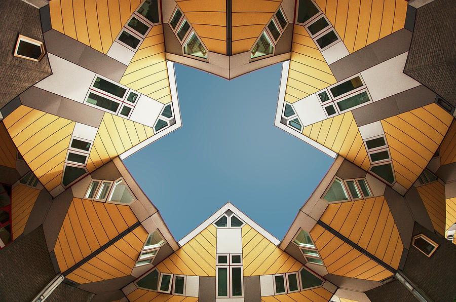 Architecture Photograph - Embracing The  Blue Sky by Gerard Jonkman
