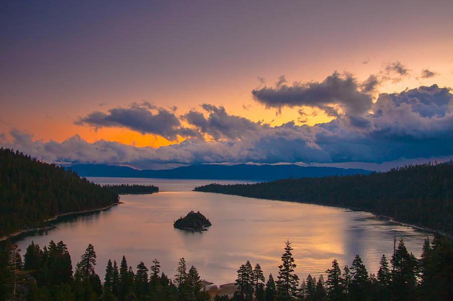 Landscape Photograph - Emerald Bay Before Sunrise by Marc Crumpler