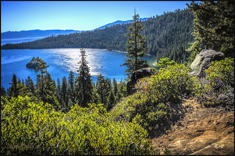 Eagle Falls Photograph - Emerald Bay Lake Tahoe California by LeeAnn McLaneGoetz McLaneGoetzStudioLLCcom