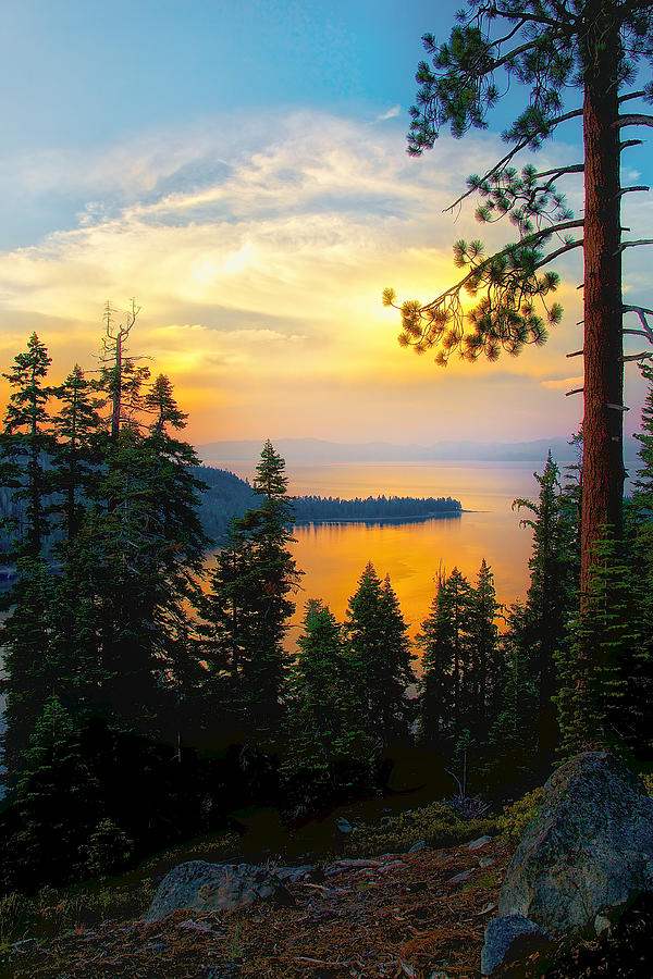 Emerald Bay Sunset by Joseph Urbaszewski