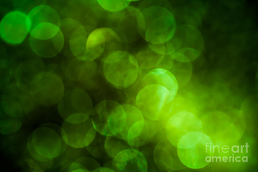 Abstract Photograph - Emerald Bokeh by Jan Bickerton