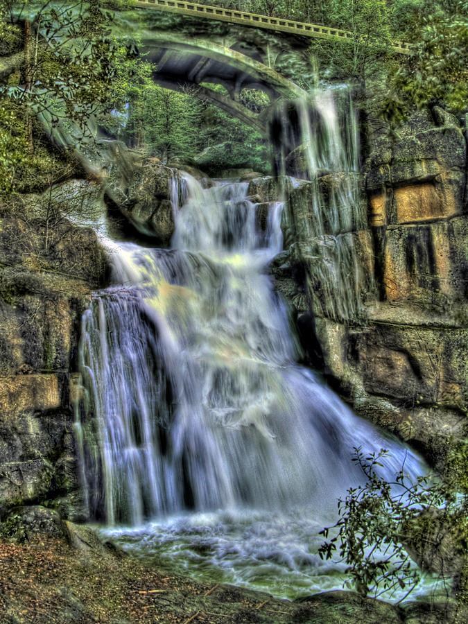 Cascade Creek Photograph - Emerald Cascade by Bill Gallagher