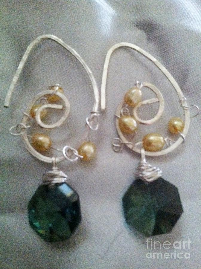 Earrings Jewelry - Emerald Evening by Tina Beal