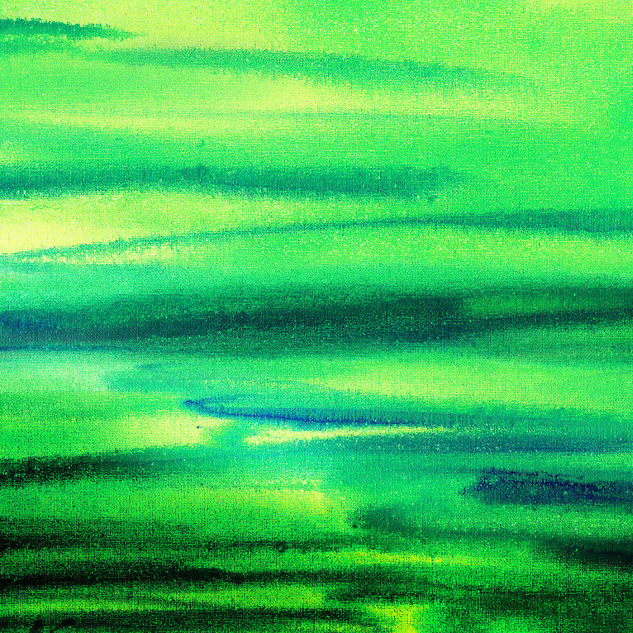 Emerald Flow Abstract I Painting