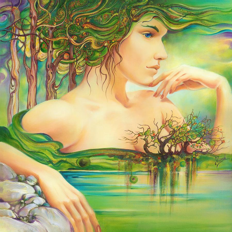 Lake Painting - Emerald Lake by Anna Ewa Miarczynska