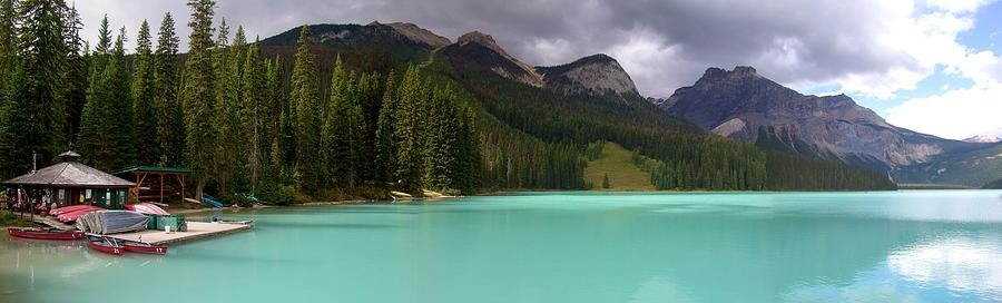 Emerald Lake Panoramic Glow, Yoho National Park, British Columbia, Canada Photograph