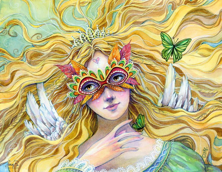 Princess Painting - Emerald Princess by Sara Burrier