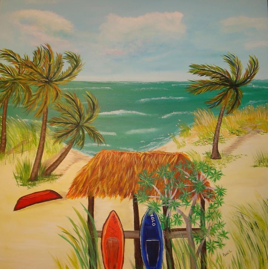 Landscape Painting - Emerald Sea by Patti Lauer
