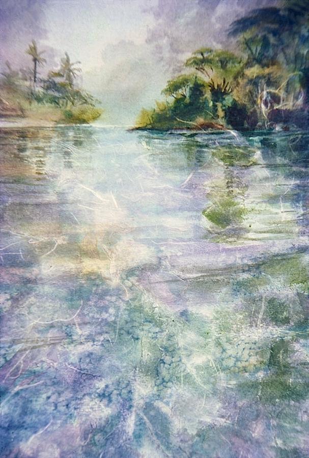 Stream Painting - emerald Stream by Patrice Pendarvis