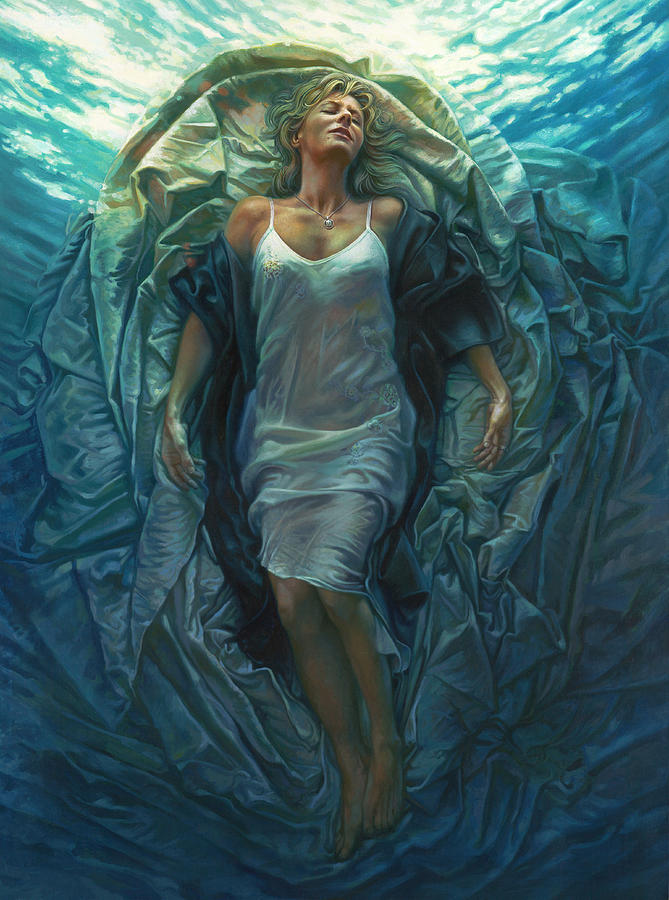 Conceptual Painting - Emerge Painting by Mia Tavonatti