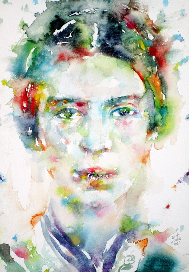 Emily Dickinson Painting - Emily Dickinson - Watercolor Portrait by Fabrizio Cassetta