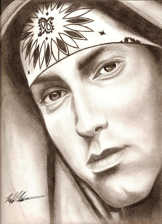 Eminem Drawing - Eminem by Michael Mestas