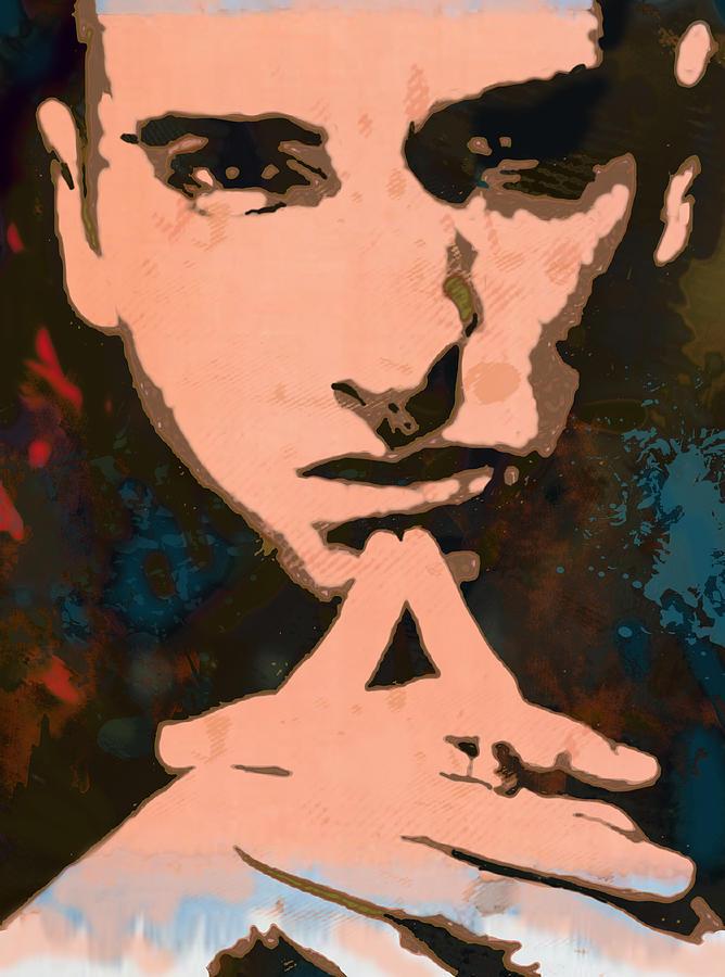 Portraits Drawing - Eminem - Stylised Pop Art Poster by Kim Wang
