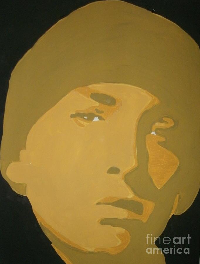 Eminem Painting - Eminem Yellow by JJ  Burner