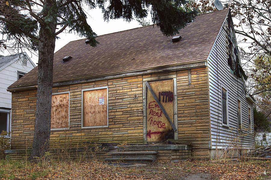 Eminems Childhood Home Taken On November 11 2013 Digital Art by Nicholas  Grunas