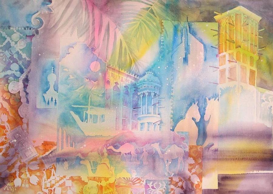 Emirati Painting - Emirati Heritage by Beena Samuel