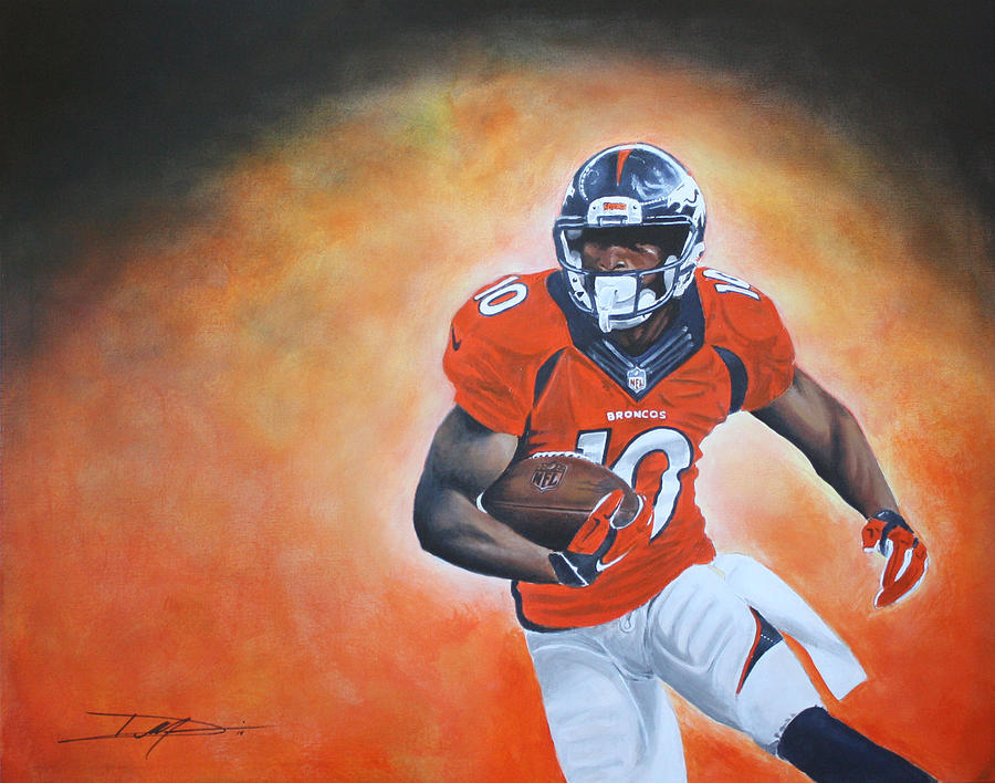 Nfl Drawing - Emmanuel Sanders by Don Medina