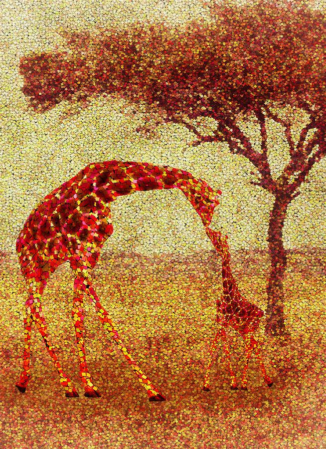 Emma Painting - Emmas Giraffe by Jack Zulli