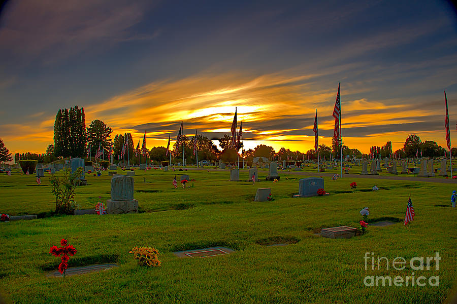 Gem County Photograph - Emmett Cemetery by Robert Bales