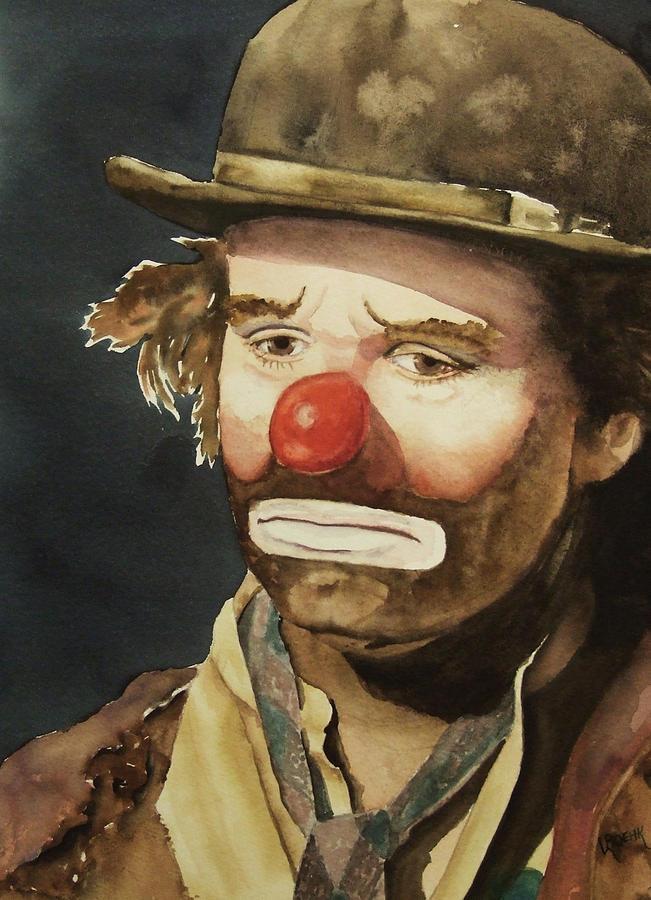 Emmett Kelly Painting - Emmett Kelly by Greg and Linda Halom