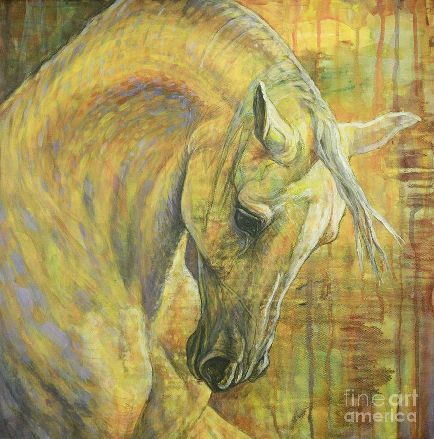 Horse Painting - Emotion by Silvana Gabudean