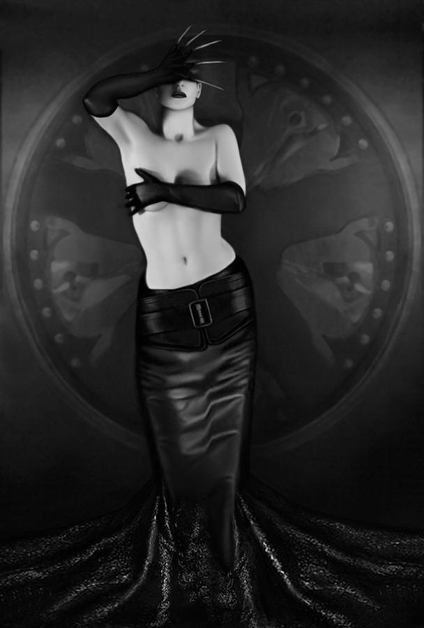 Erotic Photograph - Emotional Blindness - Self Portrait by Jaeda DeWalt