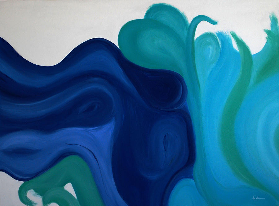 Aqua Painting - Emotional Waves by Sonali Kukreja