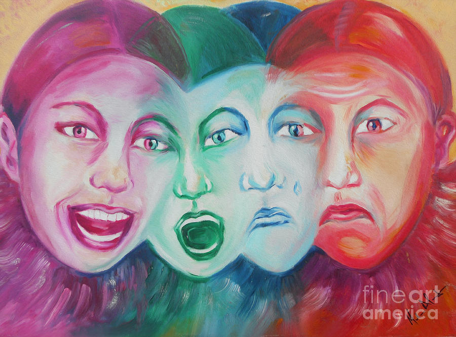 Smile Painting - Emotions by Melanie Alcantara Correia