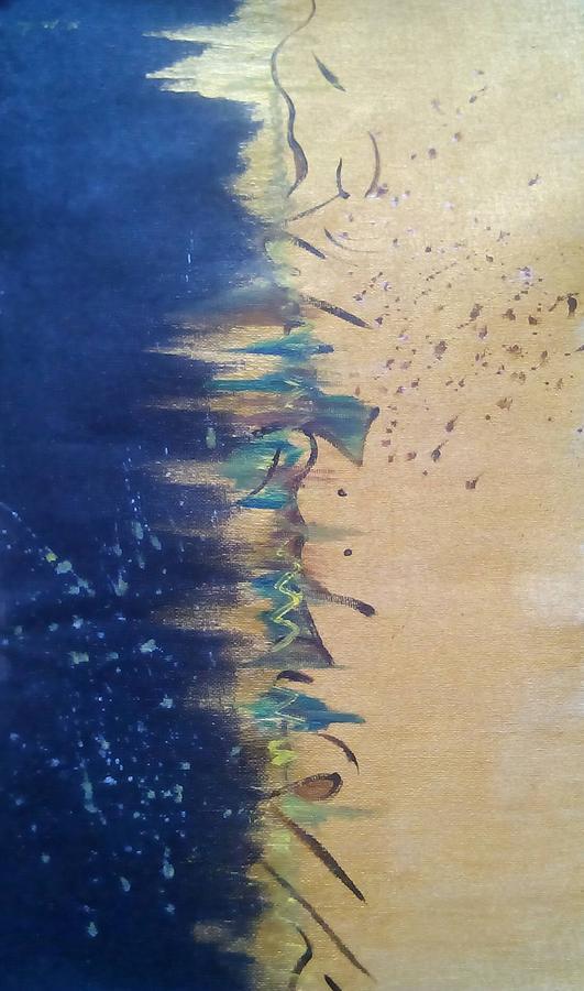 Black Painting - Emotions by Naomi Mwende