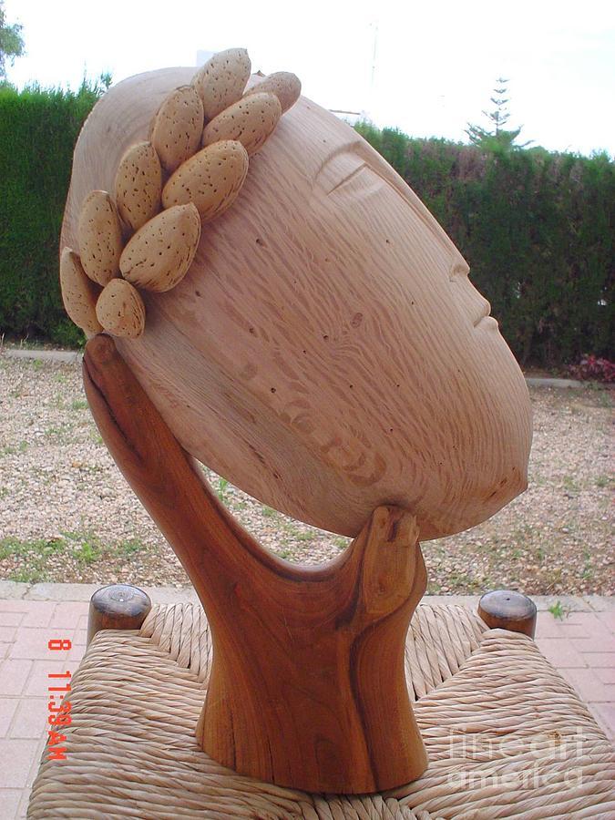 Oak Sculpture - Emperor Almond by Gyula Friewald