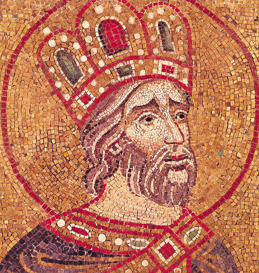 Emperor Constantine I Ceramic Art - Emperor Constantine I by Byzantine School