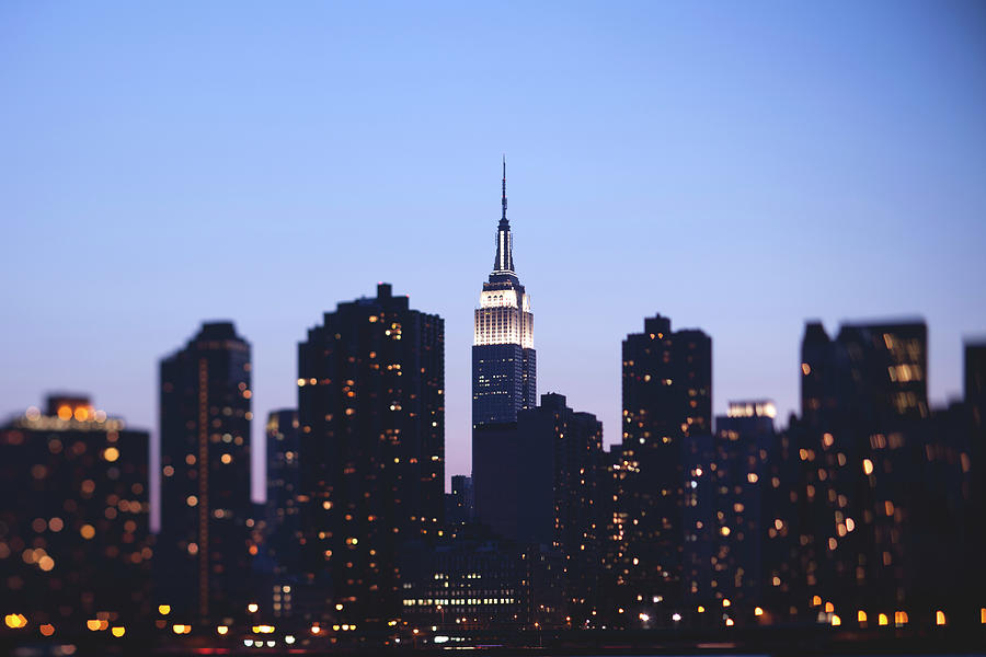 Empire State And Manhattan Skyline At Photograph by Marcaux