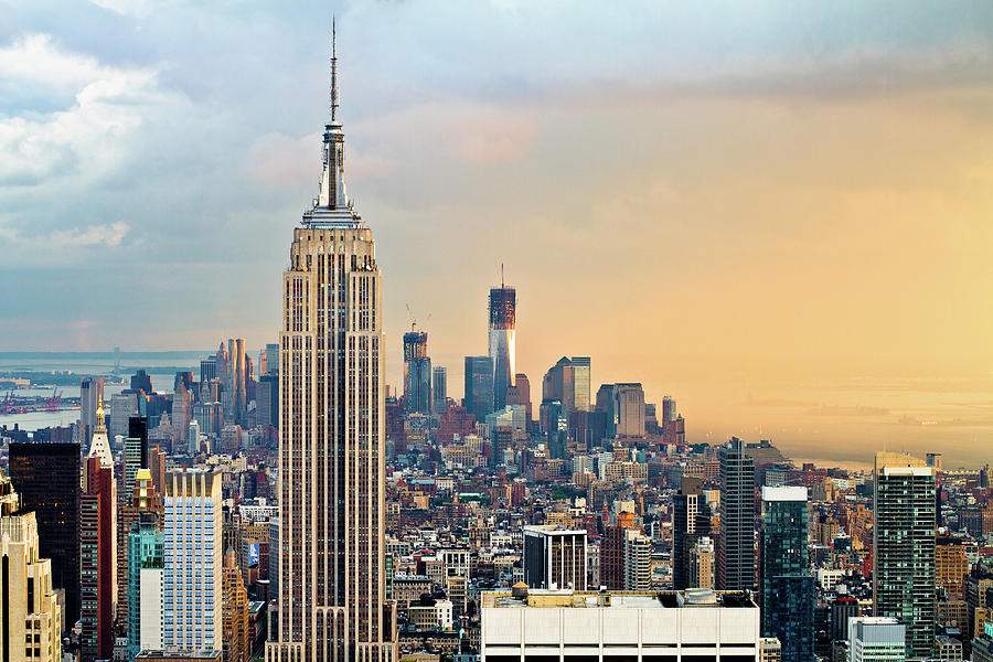 Empire State Building And One World Photograph by Ryan D. Budhu
