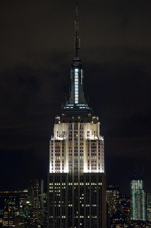 Empire State Building At Night Photograph By Gary Eason