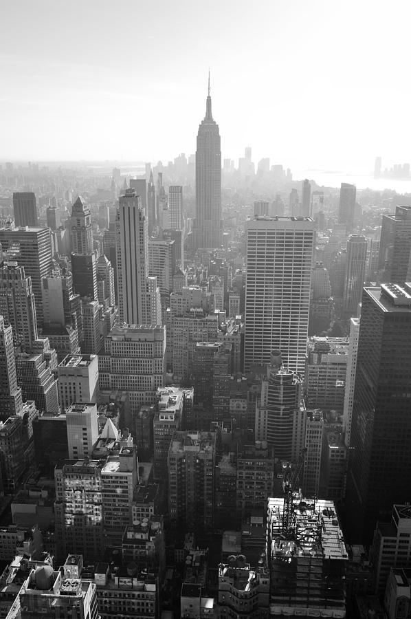 Empire State Building Black And White Canvas