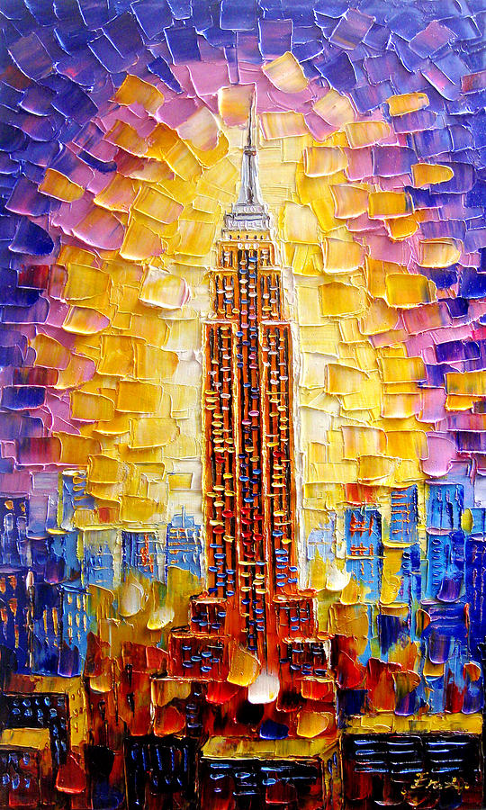 Empire State Building Painting - Empire State Building by Enxu Zhou