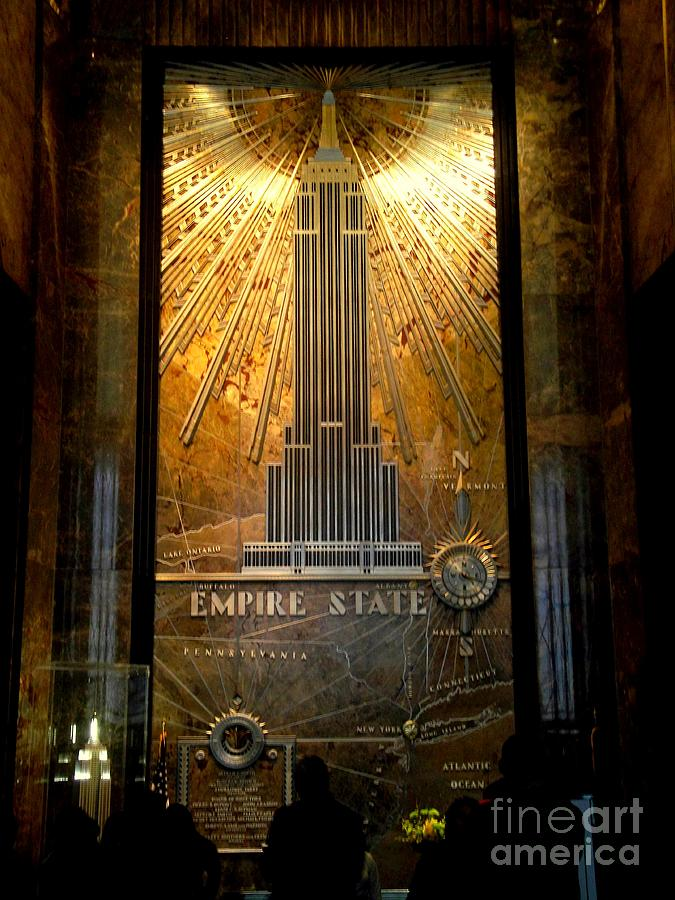 New York Photograph - Empire State Building - Magnificent Lobby by Miriam Danar