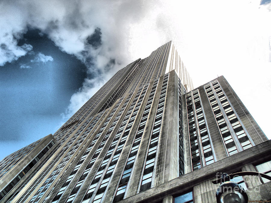 Empire State Building Photograph - Empire State Building - Vertigo In Reverse by Luther Fine Art