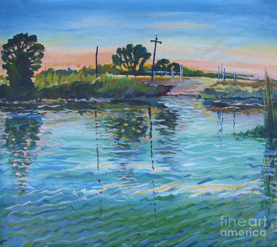 California Painting - Empire Tract Ferry by Vanessa Hadady BFA MA