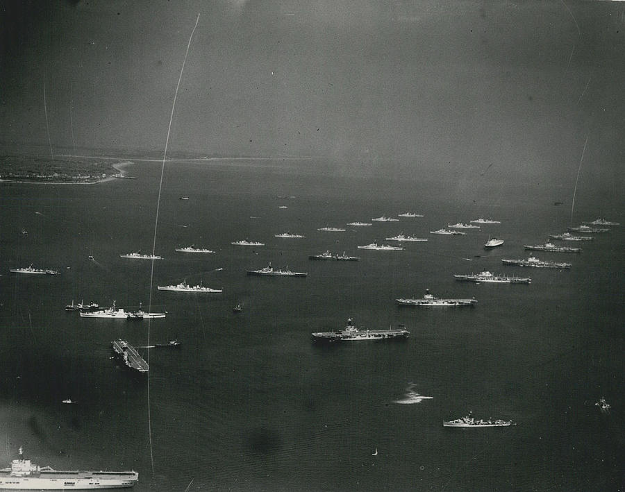 Retro Photograph - Empire�s Warships Line Up For The Coronation Review At by Retro Images Archive