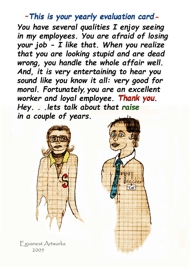 Employee Thank You Card Evaluation Painting By Michael Shone Sr