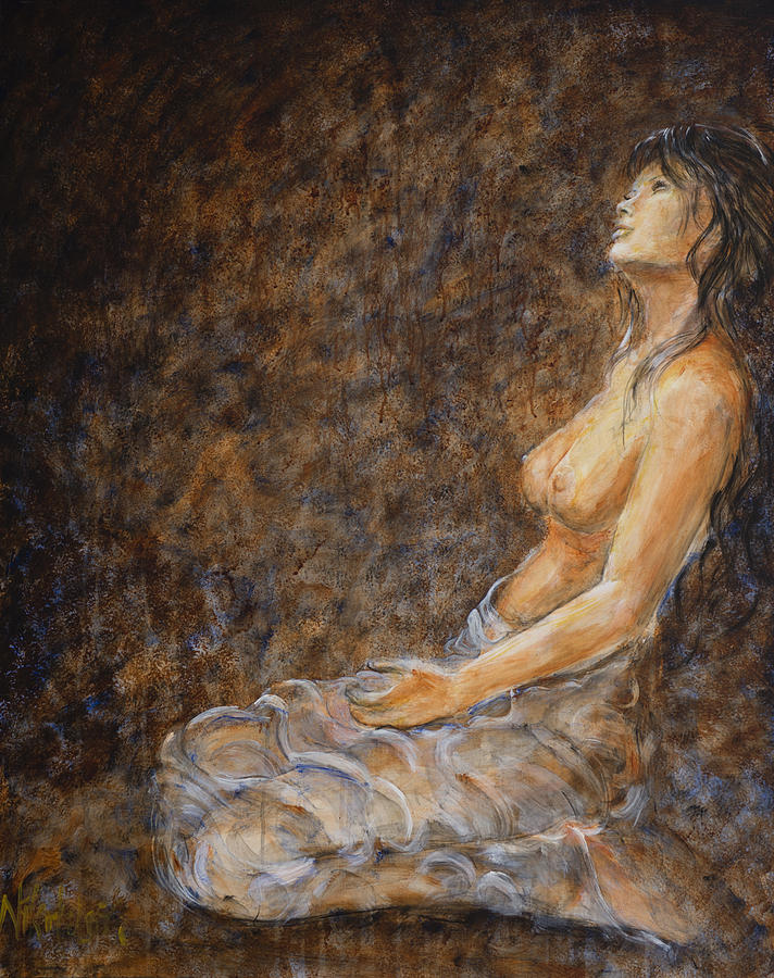 Nude Painting - Empower Me by Nik Helbig